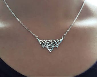 Celtic Knotwork Necklace in Sterling Silver