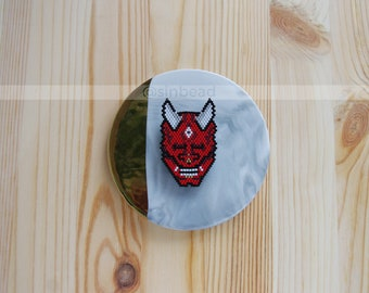 Oni Mask Brooch Japanese mask