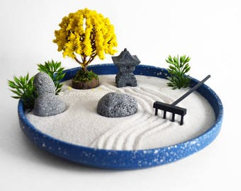 Aromatherapy Zen Garden // Essential Oil Diffuser // DIY Kit // Relaxation Gifts // Meditation // Lavender // Lava Rocks // Temple Pagoda