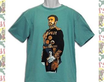 Haile Selassie I [Made in ETHIOPIA]T-Shirt  (roots reggae dub rastafari africa ethiopia jamaica )
