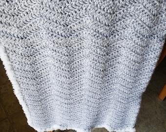 Baby Crochet Blanket - Gray