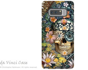 Floral Sugar Skull Galaxy Note 8 Case - Day of the Dead Case for Samsung Galaxy Note 8 - Bali Botaniskull - Botanical Skull Case for Note 8