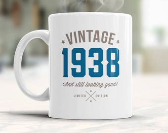 80th Birthday, 1938 Birthday, 80th Birthday Gift, 80th Birthday Idea, Vintage, 1938, Happy Birthday, 80th Birthday Gift for 80 year old