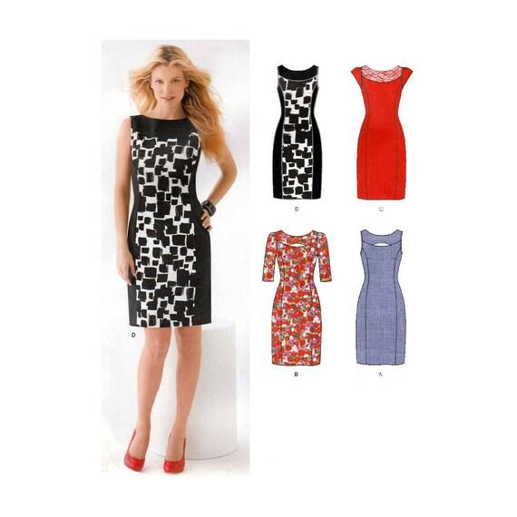 Women\'s Dress Sewing Pattern, Princess Seams, Sleeveless, Cap ...
