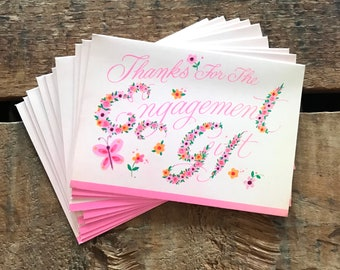 Vintage Thank You Cards - Set of 10 - Vintage Wedding Cards, Vintage Engagement Cards, Vintage Unused Cards, Vintage Bridal Shower Cards