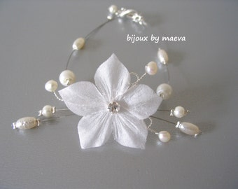 wedding jewelry for brides pearl and ivory flower