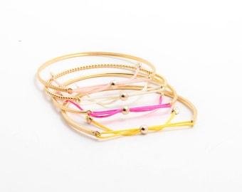 Town Square Baby, Toddler, Girls Square Bow Tie Bracelet - 14K Gold - Engraving