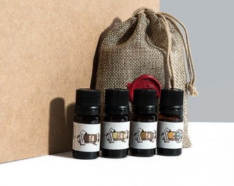 Starter Pack - 4 in size 5ml beard oils - perfect to test on a bearded man!