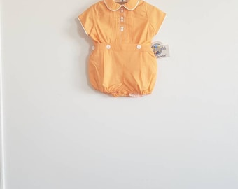 Vintage Deadstock Orange Baby Outfit