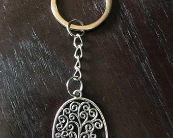 Tree of Life Keyring- Tree Keychain- Tree of Life Keyring- Tree Keyring- Divination Keyring- Tree of Life Keyring- Silver Tree Keyring -