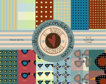 chicken DIGITAL  PAPER SCRAPBOOKING
