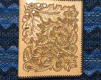 Hand Tooled Leather Planner