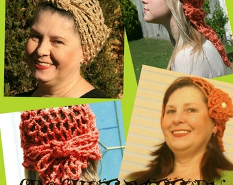 CROCHET PATTERN -  Do Rag --- AND 10 or more great possibilities---Open  weave all year pattern