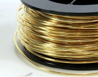 Jeweler Brass Wire, 14 Gauge, Round Dead Soft, Solid Yellow Brass Wire, Jewelry Quality Brass, Wire Wrapping, Sold in 10 Ft. Length, 015