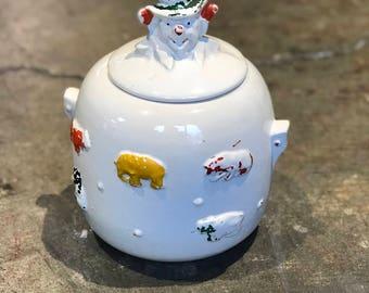McCoy USA Animal and Clown Cookie Jar