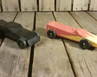 Wooden Toy Cars, Vintage Toy Car,