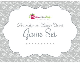 Personalize Any Baby Shower Game Set