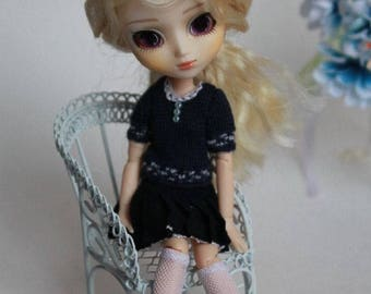 AZONE Picco Neemo 1/12 doll dark blue outfit size S.