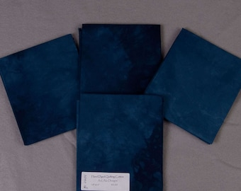 Indigo Blue Hand-Dyed Quilting Cotton Fat Quarter