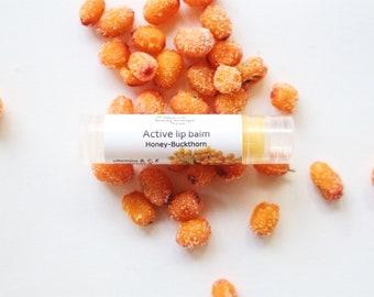 Natural healing beeswax Lip Balm with sea-buckthorn lip moisturizer