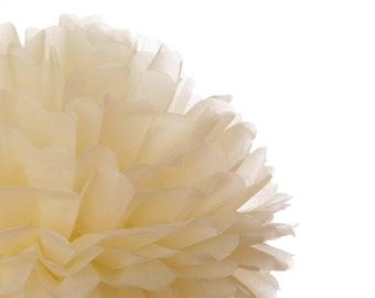 French Vanilla 1 Large tissue paper pom poms