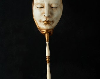 Venetian Mask | Neutral Volute with Stick