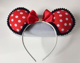 Flawed but Functional* Classic Red Polka Dot Minnie Mouse Ears Red Polka Dot Mouse Ears