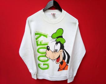 vintage goofy cartoon disney sweatshirt small size