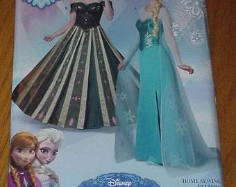 Simplicity S0746 - Disney Frozen Anna & Elsa Dresses Womens Size 6-12 - new!