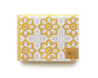 Pakistani Tile - set of 6 letterpress cards