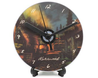 Skyrim Riverwood At Night Printed CD Clock Video Game Collectable Gift Idea