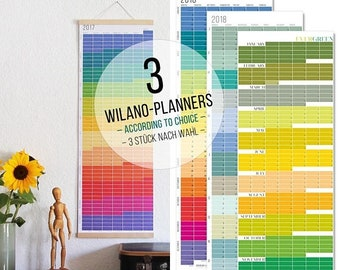 ON SALE VALUE Pack + + + Wall Planner 2018 Planner 2018 Calendar Wall Planner 2018 rainbow colours Wall decoration Poster Color Pastell 2018