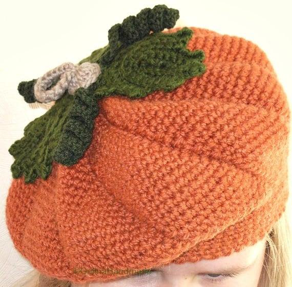 PDF patrón niño sombrero del ganchillo sombrero de calabaza