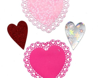 lot 4 245 - cut hearts for your cards or scrapbooking