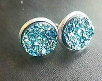 Druzy earring studs