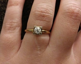 1930's Diamond Solitaire Engagement Ring