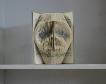 Peace Symbol - Folded Book Art Sculpture - made to order