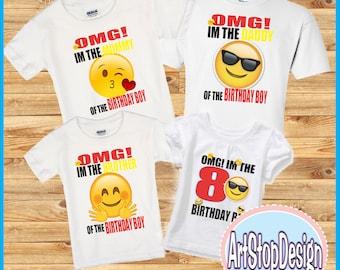 Emoji familly shirts,FREE SHIPPING,family shirts,Emoji shirts,birthday shirts,birthday family,birthday boy,birthday party emoji,colorful