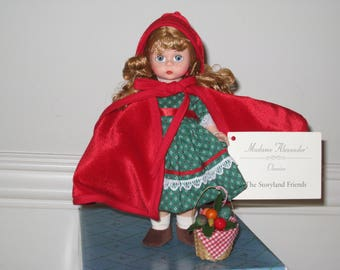 "Madame Alexander Little Red Riding Hood 8"" Doll #13970 - Complete with Basket, Hang Tag & Original Box"
