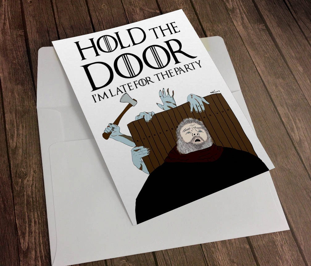 Game of thrones hodor hold the door funny birthday greeting zoom bookmarktalkfo Image collections