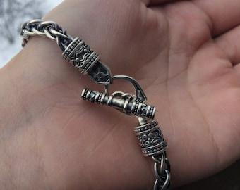 Silver Bracelet Viking Bracelet Handmade Bracelet Ragnar Bracelet Celtic Bracelet Weight 27,70