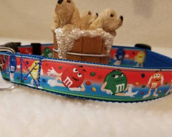 Candy Handmade Dog Collar 1 Inch Wide Large Only Last One