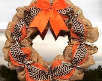 Orange and Blue Wreath
