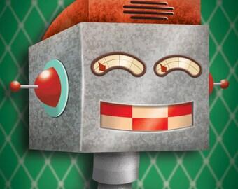 Roboter Kunstdrucke - Roboter - Kinderzimmer Dekor - Kunst für Jungen Zimmer - 8 x 10 drucken - Roboter Druck - Kunst für Kinderzimmer - Wand - Kunstdrucke
