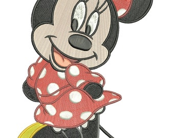 INSTANT DOWNLOAD Machine Embroidery Designs. Minnie Mouse. Mickey Mouse.
