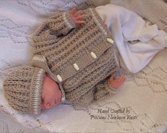 Baby knitting pattern boys or reborn dolls sweater set baby knitting pattern download pdf knitting pattern for baby boys or reborn dolls sweater dt1010fo