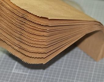 """50 Kraft Paper Bags ... 5"""" x 7.5"""" Merchandise Bags Packaging Wedding Favor Bags Kraft Bags Treat Bags Printable DIY Gift Bags Plain Brown"""