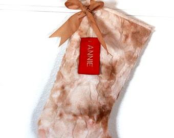 Fur Christmas Stockings / Personalized Christmas Stockings / FREE Shipping