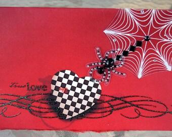 True Love Diamond Spider Handmade Card