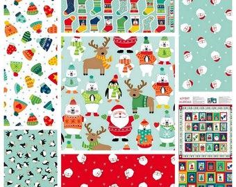 NOVELTY CHRISTMAS Collection 2017 by Makower Fabrics